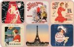 70765 Paris Casino Set 6 French Vintage Style Coasters Drinks Holder Mat Gift